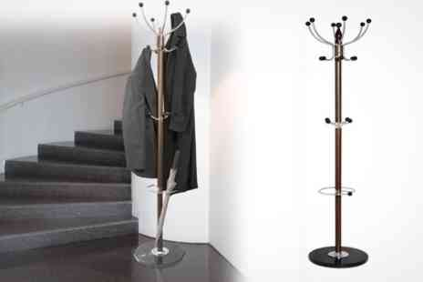 Lancashire Textiles - Luxury Hat and Coat Stand With Marble Base - Save 70%
