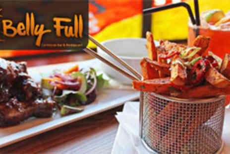 Belly Full Caribbean Bar and Restaurant - Caribbean dining for two including cocktails - Save 51%