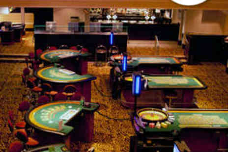 Gala Casino - Two Course Meal with Wine for Two and Gaming Chip - Save 68%