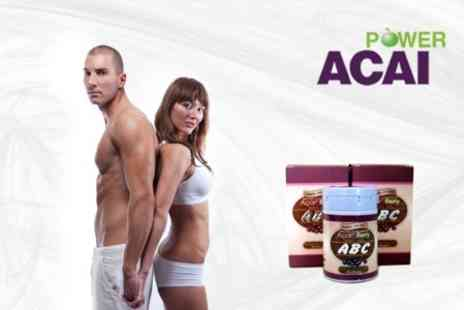 Power Slim Acai - Course of Acai Berry Slimming Capsules for One Month - Save 74%