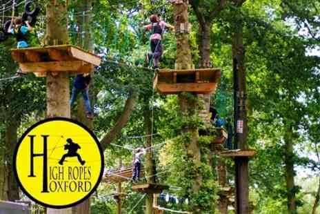 High Ropes Oxford - Adventure High Ropes Experience With Simulated Parachute Jump - Save 50%