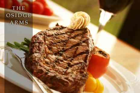 The Osidge Arms - Two Course Steak Meal For Two With Wine - Save 45%