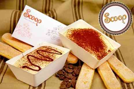 Scoop - Tiramisu and Hot Drink For Two - Save 53%