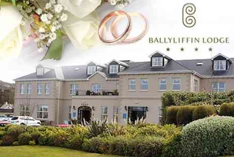 Ballyliffin Lodge - Wedding Day Package For 80 Guests With Four Course Meal, Evening Buffet and Bridal Suite - Save 58%