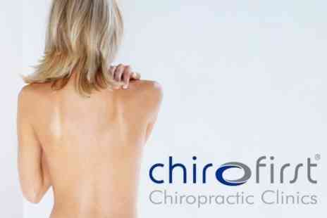 Chiro First Chiropractic Clinic - Chiropractic Consultation, Evaluation and Two Treatments - Save 74%
