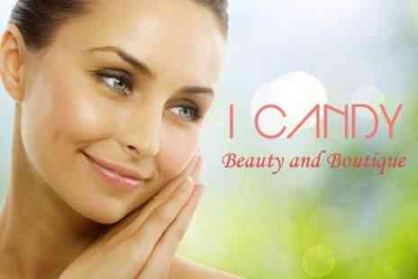I Candy Beauty and Boutique - Diamond Microdermabrasion One Sessions Plus Facial Conditioning Treatment or Eyebrow Shape - Save 58%