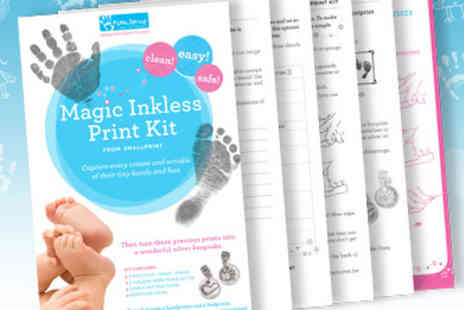 Smallprint - Magic Inkless Print Kit: Transfer precious prints onto unique Silver Jewellery - Save 50%