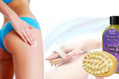 eggsnog - Anti Cellulite Set including the Cellulite Fight Body Brush & massage your problem areas into shape - Save 50%