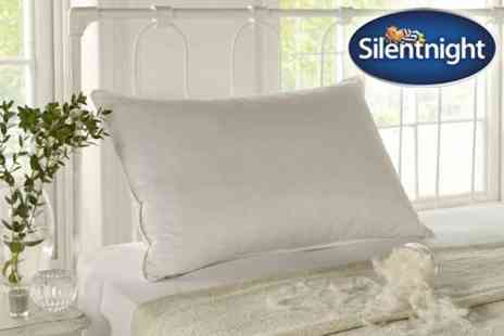 UK Bedding - Silentnight Luxury Feather Pillows - Save 66%