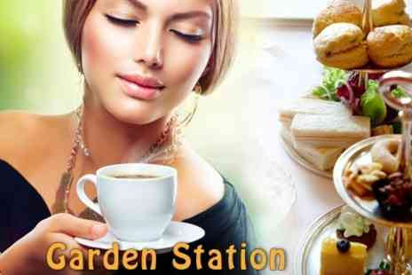 The Garden Station - Afternoon Tea For Two - Save 50%