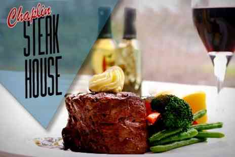 Chaplin Steak House - Steak and Wine For Two With Side Salad - Save 52%