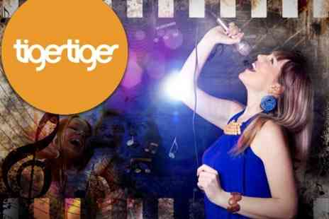 Tiger Tiger Leeds - Two Hours of Karaoke For Up to 11 People Plus Round of Shots - Save 93%