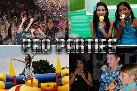 Pro Parties - Themed Kids Parties Football, Disco Dance, Costume, Sports and more. Valid for 1 year. - Save 47%