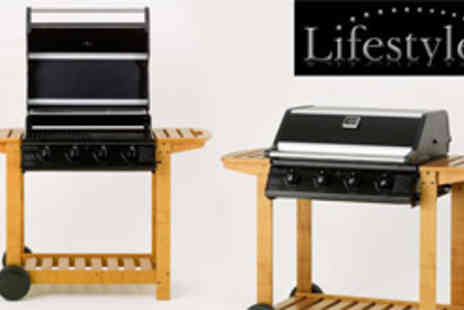 MoneySupermarket Deals - Four burner hooded gas BBQ - Save 54%