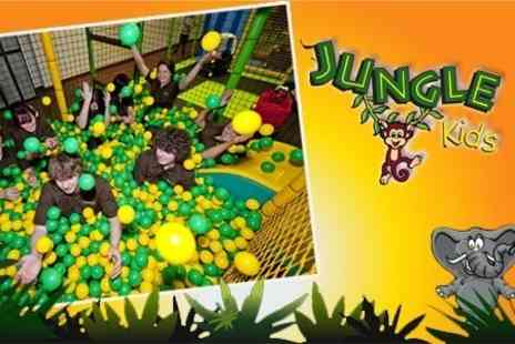Jungle Kids - Soft Play With Lunch Box and Drink For Two - Save 52%