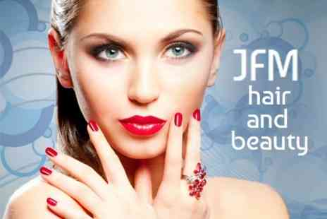 Angela's Nails and Beauty @ JFM - Gelish Manicure Plus Gelish Toes and Full Body Spray Tan - Save 50%