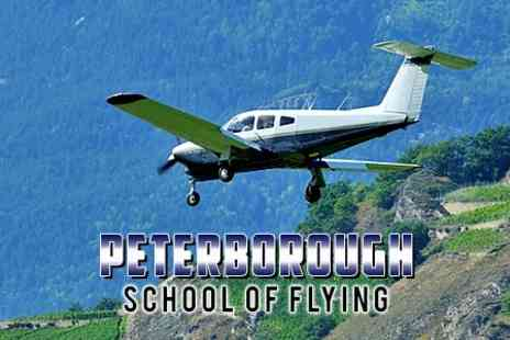 Peterborough School of Flying - One Hour flying Lesson Including Experience - Save 50%