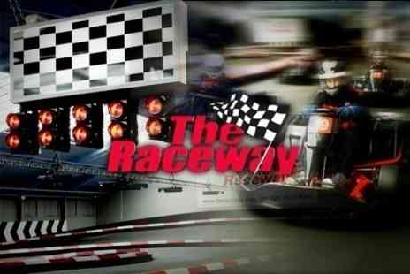 The Raceway - 30 Minute Go Karting Experience Race Plus Food, Drink and Minibus Transfers - Save 64%