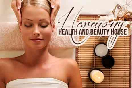Harmony Health and Beauty House - Back and Head Massage Plus Manicure or Acupuncture - Save 59%
