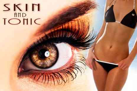 Skin N Tonic - Eyelash Extensions With Lash Tint and Brow Tint and Shape - Save 72%