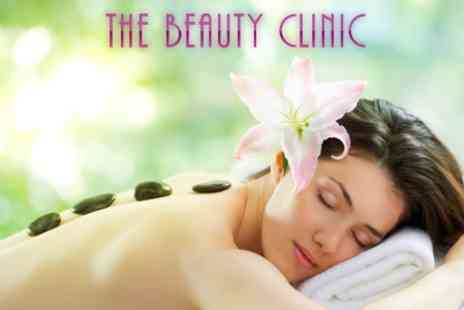 The Beauty Clinic - One Hour Hot Stone Back Massage Plus Facial - Save 50%