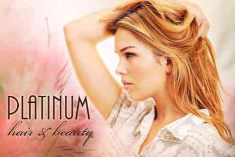 Platinum Hair and Beauty - Half Highlights or Colour, Cut and Blow Dry, With Condition - Save 69%