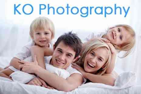 KO Photography - Family Portrait Photoshoot Session With Ten Prints - Save 83%