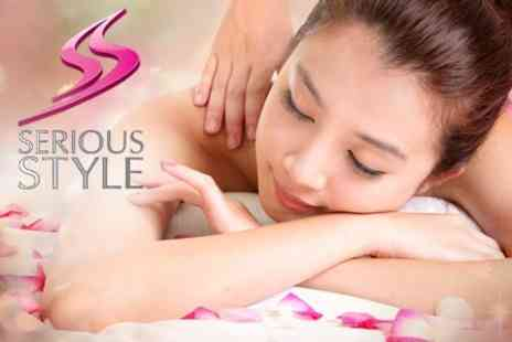 Serious Style - Back, Neck, and Shoulder Massage With One Hour Facial - Save 58%