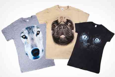Printed Wardrobe - Big Face Animal T Shirts - Save 50%