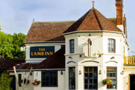 The Lamb Inn - Two Course Meal for Two with Wine - Save 53%