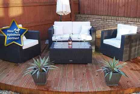 London Rattan - Luxury four piece London Rattan Kensington garden furniture set  - Save 56%