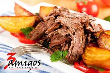 3 Amigos - Mediterranean Hog Roast For Two With Glass of Sangria Each - Save 35%