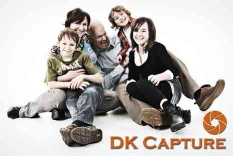 DK Capture - One Hour Photoshoot for Individuals, Couples or Family Groups Plus Four Prints - Save 83%