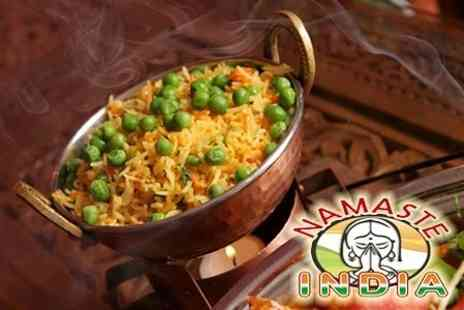 Namaste India - Vegetarian Indian Cuisine Two Courses For Two With Rice, Bread, and Poppadoms - Save 50%