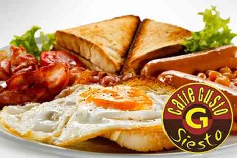 Caffe Gusto - Full English For One - Save 53%