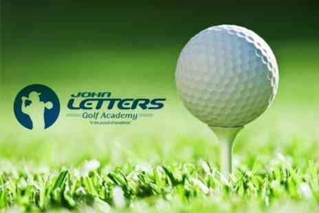 John Letters Golf Academy - PGA Pro Golf Coaching Two One Hour Lessons With Video Analysis For One - Save 52%