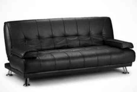 Aston Furniture - Faux Leather Sofa Bed in Brown or Black - Save 70%