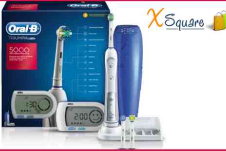 XSquare - Keep Your Teeth Looking Professtional Cleaned with this Oral B Triump 5000 Electric Toothbrush - Save 60%