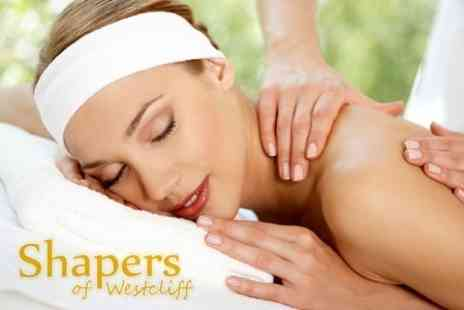 Shapers of Westcliff - Prescription Facial, Back, Neck and Shoulder Massage and Gelish Manicure - Save 66%