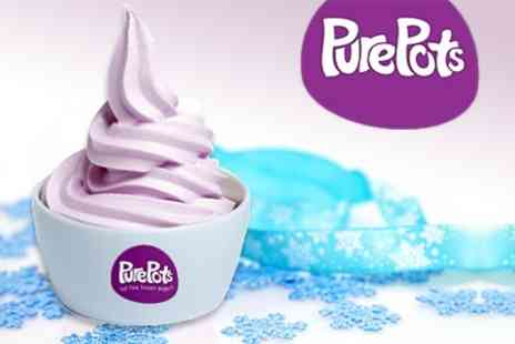 Pure Pots - Frozen Yogurt With One Topping For One  - Save 42%
