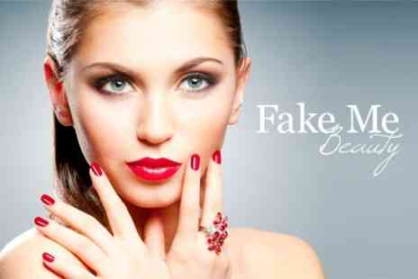 Fake Me Beauty - Gellux Manicure or Pedicure or Both - Save 60%