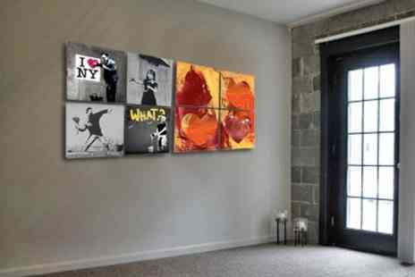 WhoArtNow.co.uk - Street Art Quad Sets With Choice of Artists Including Banksy - Save 75%