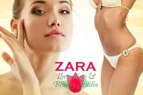 Zara Threading and Beauty - IPL Hair Removal Six Sessions on One Medium or Two Small Areas - Save 82%
