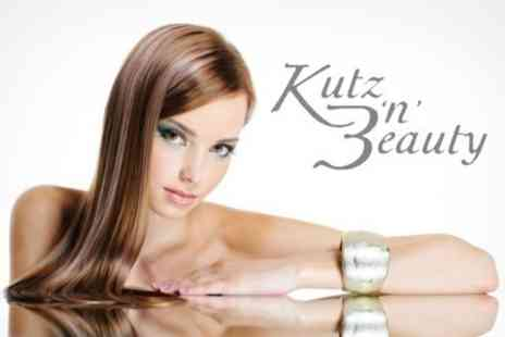 Kutz n Beauty - Half Head Highlights or Full Head Colour With Restyle Cut, Blow Dry and Conditioning Treatment Plus Arm and Scalp Massage - Save 65%