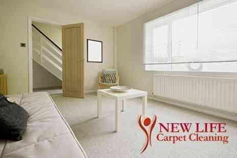 New Life Carpet Cleaning - Carpet Cleaning For Three Rooms - Save 71%