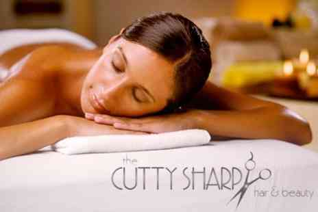 The Cutty Sharp Hair and Beauty - One Hour Swedish or Aromatherapy Massage - Save 52%