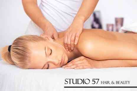 Studio 57 Hair and Beauty - Back, Neck and Shoulder Massage With Facial - Save 69%