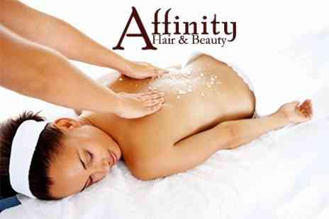 Affinity Hair and Beauty - Salt Scrub and Full Body Massage - Save 60%