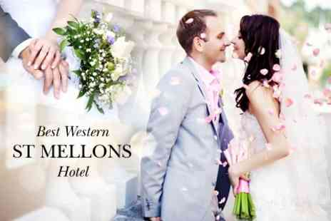 St Mellons Hotel - Wedding Package With Three Course Meal and Evening Buffet for Up to 50 Guests and Bridal Suite - Save 52%