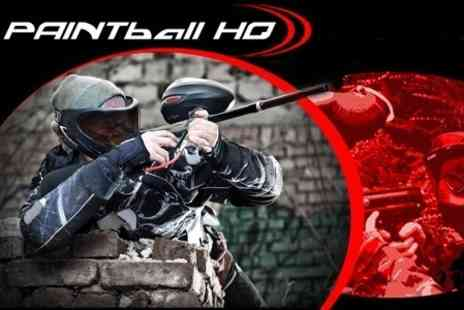 Paintball HQ - Paintballing For Two With Lunch and 100 Paintballs Each - Save 83%